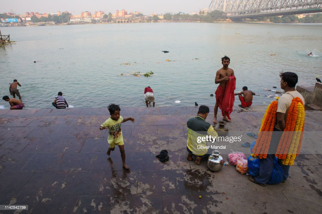 Ghats Of Hoogly River : Stock Photo