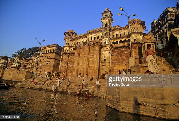 Ghats of the city of Benares The religious capital of Hinduism Benares is closely associated with the Ganges River and it is one of the most sacred...