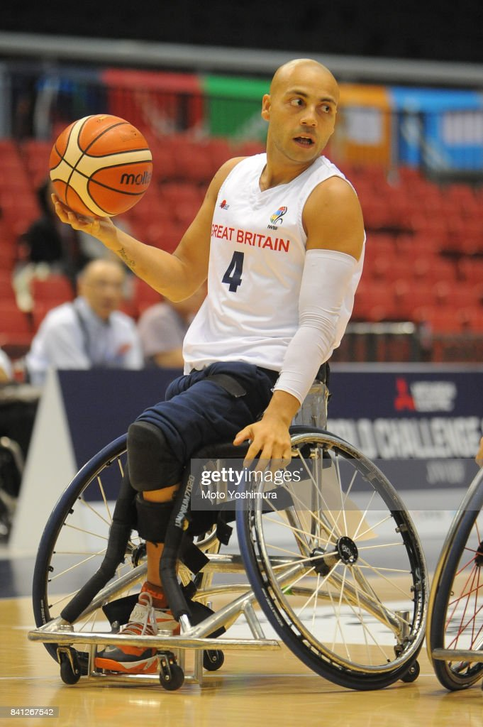 Ghazain Choudhry of Great Britain in action during the Wheelchair Basketball World Challenge Cup match between Great Britain and Turkey at the Tokyo Metropolitan Gymnasium on August 31, 2017 in Tokyo, Japan.