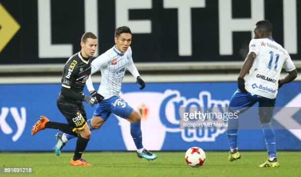 20171129 Ghent Belgium / Croky Cup 1/8 Final Kaa Gent v Sporting Lokeren / 'nJulian MICHEL Yuya KUBO'nBelgian Cup 1/8 Final'nPicture Vincent Van...