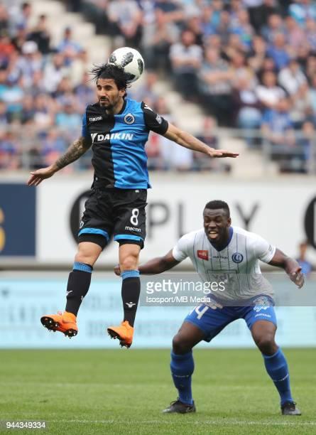 20180408 Ghent Belgium / Kaa Gent v Club Brugge / 'nLior REFAELOV Anderson ESITI'nFootball Jupiler Pro League 2017 2018 PlayOff 1 Matchday 2 /...