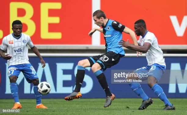 20180408 Ghent Belgium / Kaa Gent v Club Brugge / 'nMoses SIMON Hans VANAKEN Anderson ESITI'nFootball Jupiler Pro League 2017 2018 PlayOff 1 Matchday...