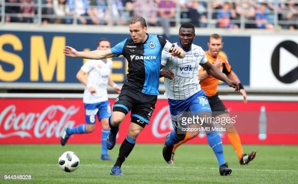 20180408 Ghent Belgium / Kaa Gent v Club Brugge / 'nRuud VORMER Anderson ESITI'nFootball Jupiler Pro League 2017 2018 PlayOff 1 Matchday 2 /...