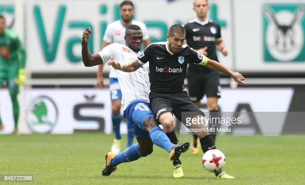 20170910 Ghent Belgium / Kaa Gent v Krc Genk / 'nAnderson ESITI Alejandro POZUELO'nFootball Jupiler Pro League 2017 2018 Matchday 6 / 'nPicture by...