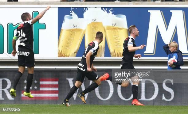 20170910 Ghent Belgium / Kaa Gent v Krc Genk / 'nJakub BRABEC Celebration'nFootball Jupiler Pro League 2017 2018 Matchday 6 / 'nPicture by Vincent...
