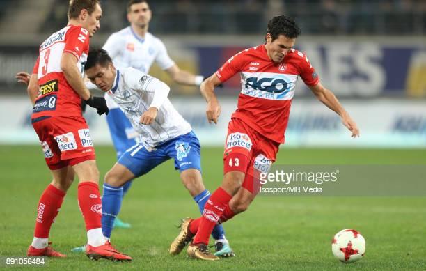 20171209 Ghent Belgium / Kaa Gent v Kv Kortrijk / 'nYevheni MAKARENKO Yuya KUBO Jeremy PERBET'nFootball Jupiler Pro League 2017 2018 Matchday 18 /...