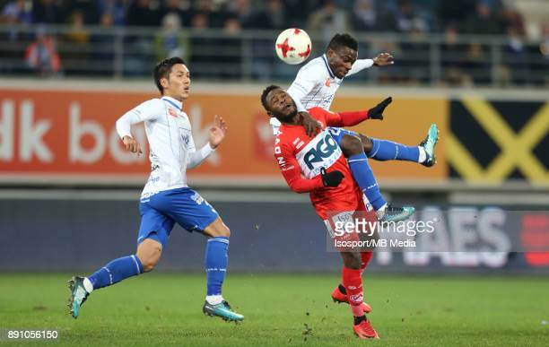 20171209 Ghent Belgium / Kaa Gent v Kv Kortrijk / 'nYuya KUBO Abdul Jeleel AJAGUN Moses SIMON 'nFootball Jupiler Pro League 2017 2018 Matchday 18 /...