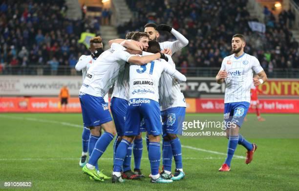 20171209 Ghent Belgium / Kaa Gent v Kv Kortrijk / 'nYuya KUBO Celebration'nFootball Jupiler Pro League 2017 2018 Matchday 18 / 'nPicture by Vincent...
