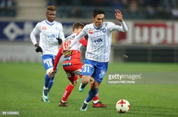 20171209 Ghent Belgium / Kaa Gent v Kv Kortrijk / 'nYuya KUBO'nFootball Jupiler Pro League 2017 2018 Matchday 18 / 'nPicture by Vincent Van Doornick...