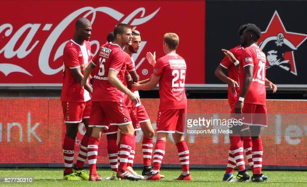 20170806 Ghent Belgium / Kaa Gent v Royal Antwerp Fc / Reda JAADI Celebration / Football Jupiler Pro League 2017 2018 Matchday 2 / Picture by Vincent...