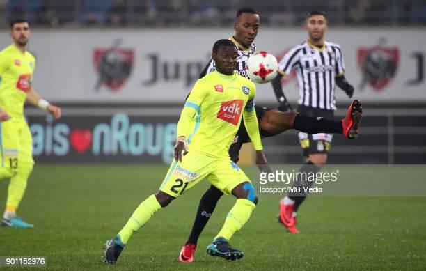20171221 Ghent Belgium / Kaa Gent v Sporting Charleroi / 'nNana ASARE Dodi LUKEBAKIO'nFootball Jupiler Pro League 2017 2018 Matchday 20 / 'nPicture...