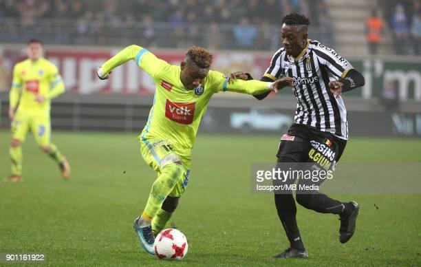 20171221 Ghent Belgium / Kaa Gent v Sporting Charleroi / 'nSamuel KALU Dodi LUKEBAKIO'nFootball Jupiler Pro League 2017 2018 Matchday 20 / 'nPicture...