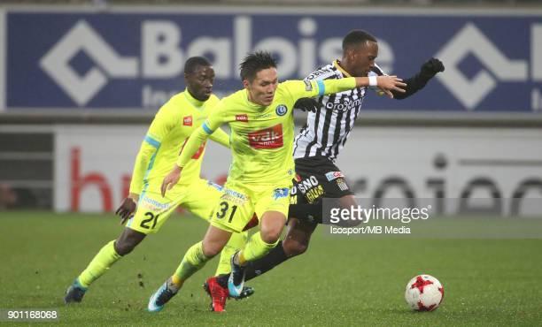 20171221 Ghent Belgium / Kaa Gent v Sporting Charleroi / 'nYuya KUBO Dodi LUKEBAKIO'nFootball Jupiler Pro League 2017 2018 Matchday 20 / 'nPicture by...