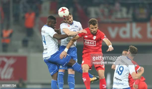 20171103 Ghent Belgium / Kaa Gent v Standard de Liege / 'nAnderson ESITI Stefan MITROVIC Orlando SA'nFootball Jupiler Pro League 2017 2018 Matchday...