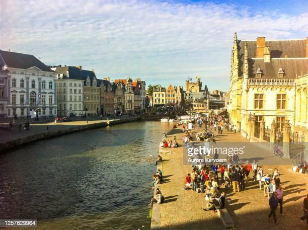 ghent, belgium. - flandres oriental imagens e fotografias de stock