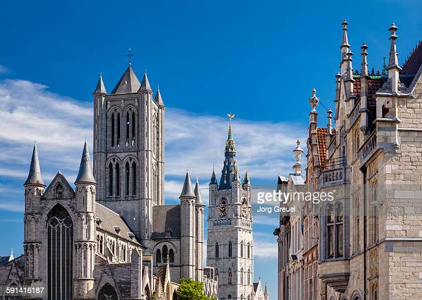 ghent, belgium - st nicholas' church stock pictures, royalty-free photos & images