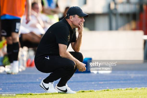 Gheorghe Hagi of Viitorul during the match between Racing FC Union Luxembourg v FC Viitorul Constanta at the Stade Josy Barthel on July 12 2018 in...