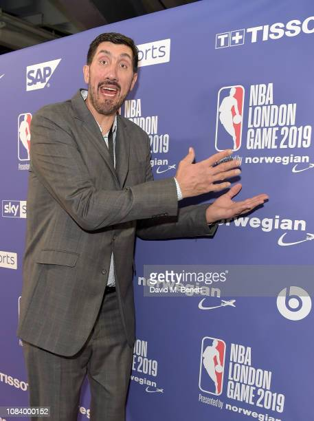 Gheorghe Muresan attends the NBA London Game 2019 between the Washington Wizards and New York Knicks at The O2 Arena on January 17 2019 in London...