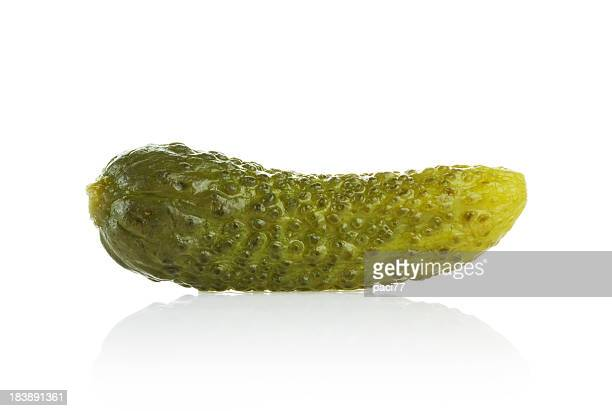 gherkin (clipping path) - pickled stock pictures, royalty-free photos & images