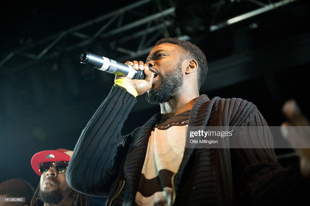 Ghetts performs on stage at 'The Eskimo Dance' at 02 Academy on February 9, 2013 in Leicester, England.
