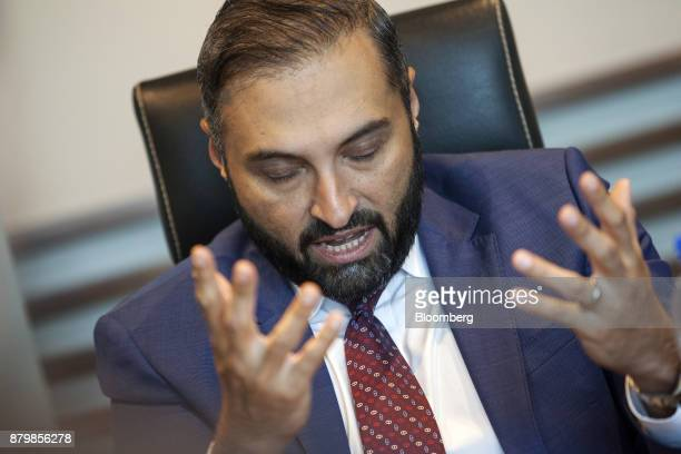 Ghias Khan chief executive officer of Engro Corp gestures as he speaks during an interview in Karachi Pakistan on Wednesday Nov 22 2017 As Pakistan...