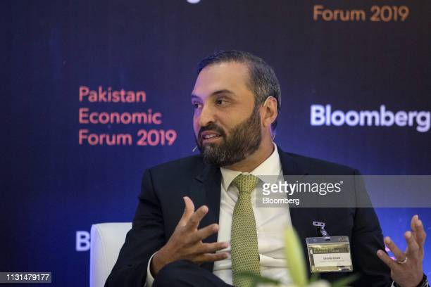 Ghias Khan chief executive officer of Engro Corp speaks during the Bloomberg Pakistan Economic Forum in Karachi Pakistan on Monday March 18 2019 The...