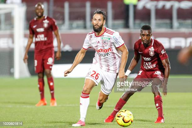 Ghislain Gimbert of AC Ajaccio during the French Ligue 2 match between FC Metz and AC Ajaccio at Stade SaintSymphorien on August 20 2018 in Metz...
