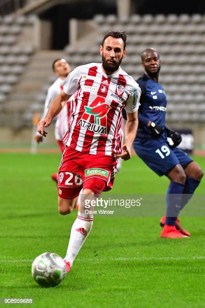 Ghislain Gimbert of AC Ajaccio during the Ligue 2 match between Paris FC and AC Ajaccio on January 22 2018 in Paris France