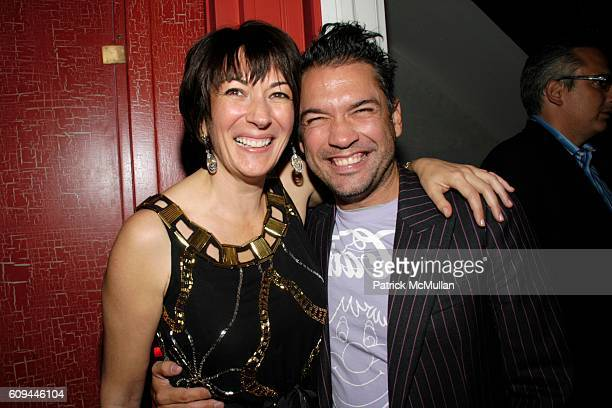 Ghislaine Maxwell and Carlos Mota attend Hamish Bowles Ghislaine Maxwell and Lillian von Stauffenberg dinner for ALLEGRA HICKS at Home of Ghislaine...