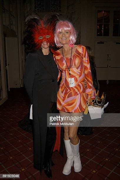 Ghislaine Maxwell and Eva Anderson Dubin attend Bette Midler's New York Restoration Project HULAWEEN Gala and Midlers 60th Birthday Celebration at...