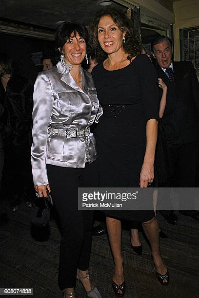 Ghislaine Maxwell and Jacqueline Schnabel attend A Private Dinner to Celebrate LES PERLES DE CHANEL Hosted by Marjorie Gubelmann Raein and Samantha...