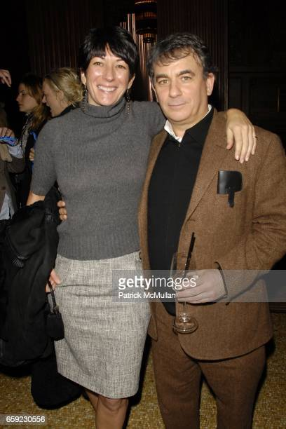 Ghislaine Maxwell and Jeffrey Leeds attend SUPER BOWL Party at The Oak Room on February 1 2009 in New York City