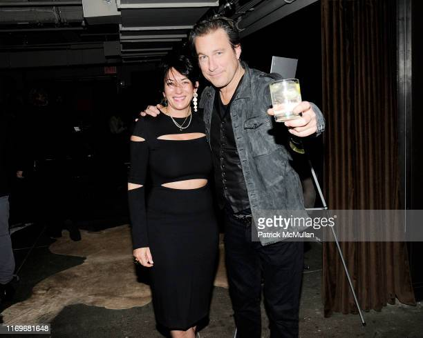 Ghislaine Maxwell and John Corbett attend The Cinema Society Olay host the after party for Entertainment One's Miss Meadows at NeueHouse on November...