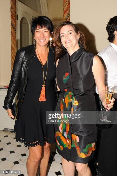 Ghislaine Maxwell and Katherine Greig attend BREAKFAST WITH LUCIAN by Geordie Greig at Private Residence on October 21 2013 in New York City