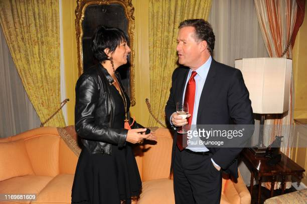 Ghislaine Maxwell and Piers Morgan attend BREAKFAST WITH LUCIAN by Geordie Greig at Private Residence on October 21 2013 in New York City
