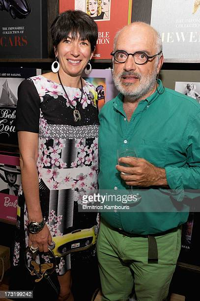 Ghislaine Maxwell and Ron Agam attend Martine and Prosper Assouline host book signing for author Berenice Vila Baudry's French Style with the...