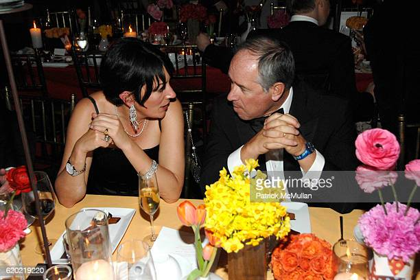 Ghislaine Maxwell and Stephen Schwarzman attend NEW YORKERS FOR CHILDREN Spring Gala A Fool's Fete Presented By MISSONI at Mandarin Oriental on April...
