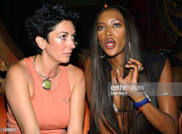 Ghislaine Maxwell and Super Model Naomi Campbell at the Rosa Cha PostShow Celebration party hosted by Super Model Naomi Campbell and NC Connect at...