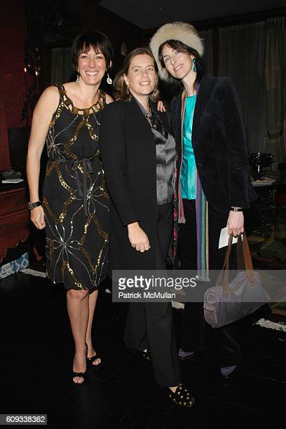 Ghislaine Maxwell Ariadne CalvoPlatero and Lucinda Lawrence attend Hamish Bowles Ghislaine Maxwell and Lillian von Stauffenberg dinner for ALLEGRA...