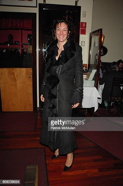 Ghislaine Maxwell attends Black Book private Screening arrivals and afterdinner at Dolby Screening Room and Osteria del Circo on February 26 2007 in...
