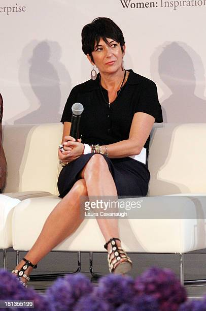 Ghislaine Maxwell attends day 1 of the 4th Annual WIE Symposium at Center 548 on September 20 2013 in New York City
