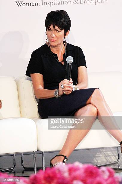 Ghislaine Maxwell attends day 1 of the 4th Annual WIE Symposium at Center 548 on September 20, 2013 in New York City.
