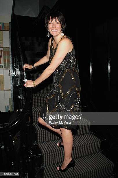 Ghislaine Maxwell attends Hamish Bowles Ghislaine Maxwell and Lillian von Stauffenberg dinner for ALLEGRA HICKS at Home of Ghislaine Maxwell on March...