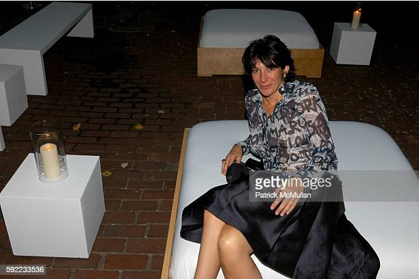 Ghislaine Maxwell attends James Perse Store Launch at 411 Bleecker on September 9 2005 in New York City