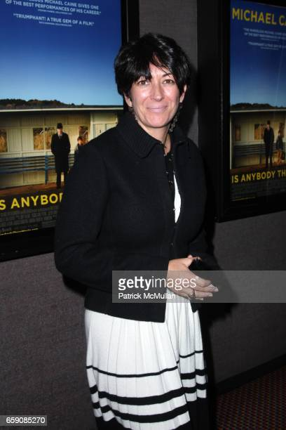 Ghislaine Maxwell attends New York Premiere of IS ANYBODY THERE at Cinema 2 on April 6 2009 in New York City
