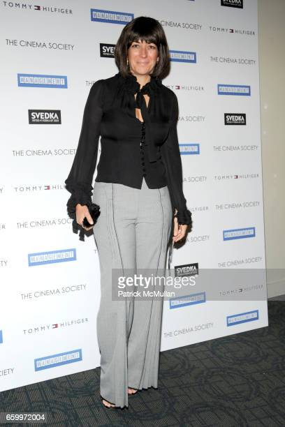 Ghislaine Maxwell attends THE CINEMA SOCIETY TOMMY HILFIGER host a screening of MANAGEMENT INSIDE at Landmark Sunshine Cinema on May 5 2009 in New...