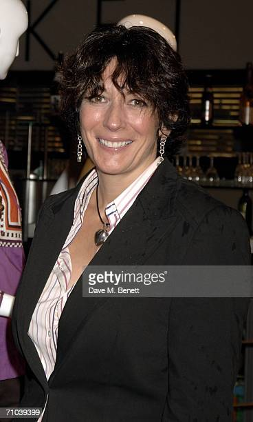 Ghislaine Maxwell attends the Girls Night Out hosted by Elizabeth Saltzman and Harvey Nichols to celebrate the UK launch of New York fashion designer...