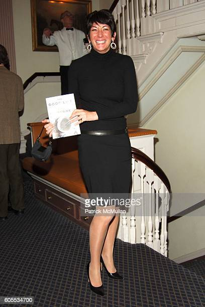 Ghislaine Maxwell attends THE GOOD LIFE a Novel by Jay McInerney Book Party hosted by Anne Hearst at 21 Club on January 31 2006 in New York City