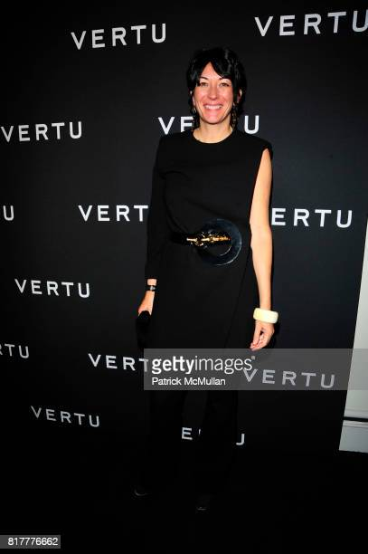 Ghislaine Maxwell attends Vertu Constellation Quest Launch Event New York at Berry Hill Galleries NYC on October 20 2010 in New York City