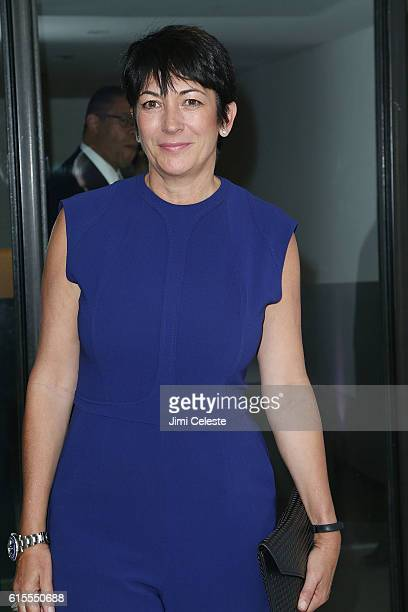 Ghislaine Maxwell attends VIP Evening of Conversation for Women's Brain Health Initiative, Moderated by Tina Brown at Spring Studios on October 18,...